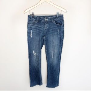 Simply Vera Wang Straight Distressed Cropped Jeans